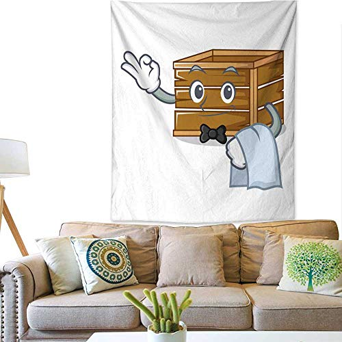 - Anyangeight Decorative Tapestry Waiter Crate Mascot Cartoon Style 60W x 80L INCH
