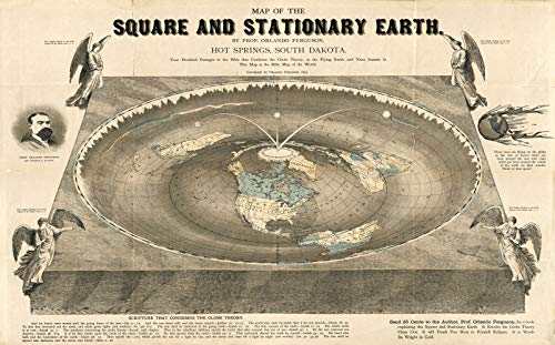 - Riley Creative Solutions Flat Earth World Map 1893 Square and Stationary Earth(23