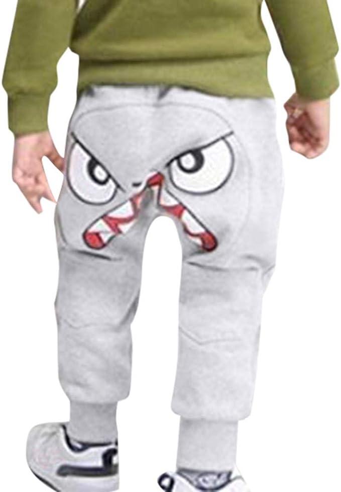 Pantalon B/éb/é Gar/çon Sunenjoy Pantalon Dessin anim/é Oiseau Langue Harem Pantalon Sarouel Pants Trousers pour Enfant 1-5 Ans Mignon D/écontract/é Printemps /Ét/é