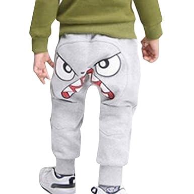 9ce994104122a Pantalon Bébé Garçon - Sunenjoy Pantalon Dessin animé Oiseau Langue Harem  Pantalon Sarouel Pants Trousers pour