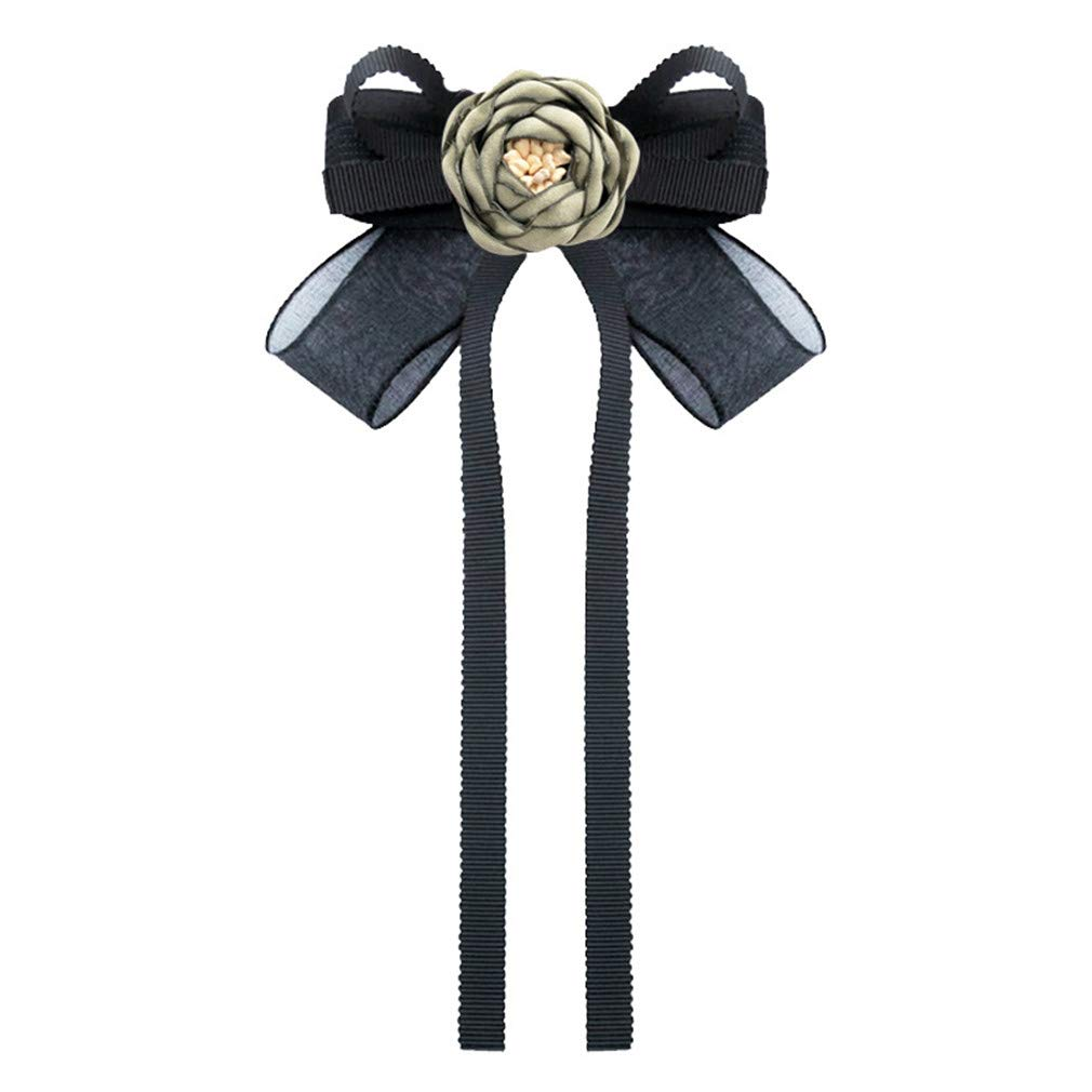 DARLING HER Romantic Fabric Flower Brooch Bow Tie British Fashion Cloth Art Shirt Collar Pin Clothing /& Accessories