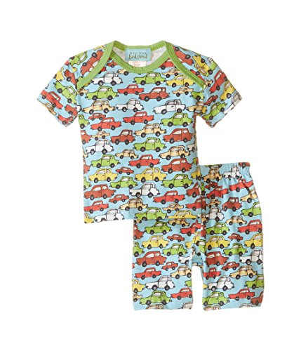 BedHead Kids Baby Boy's Short Sleeve Short Bottom Pajama Set (Infant) Hot Wheels Pajama Set 3-6 Months