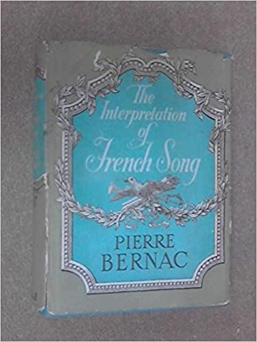 Book Interpretation of French Song