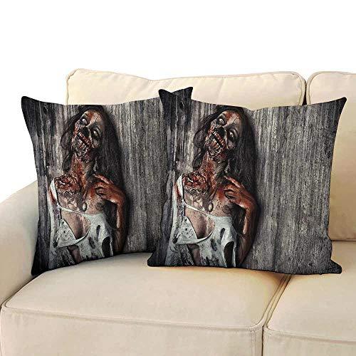 Simple Pillowcase Zombie Decor Angry Dead Woman Sacrifice