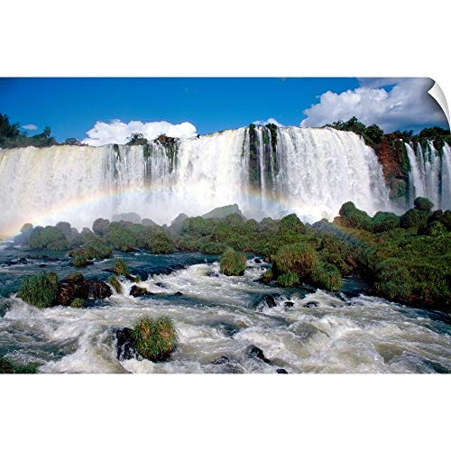CANVAS ON DEMAND Waterfall Wall Peel Art Print, - Waterfalls Iguacu