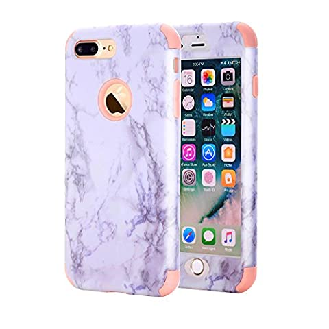 iPhone 7 Plus Case, GPROVA New Marble Design, Slim Dual Layer Protection Shockproof PC TPU Skin Cover for Apple iPhone 7 Plus (Pink (Speck Like Iphone 5s Case)