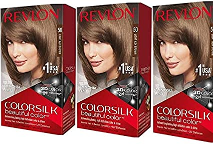 Revlon ColorSilk Hair Color [43] Medium Golden Brown 1 ea ...
