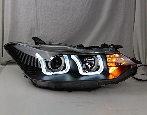 GOWE Car Styling For Toyota Vios headlights 2014-2016 Vios led headlight Head Lamp led drl projector headlight H7 hid Bi-Xenon Color Temperature:6000K Wattage:55W 4