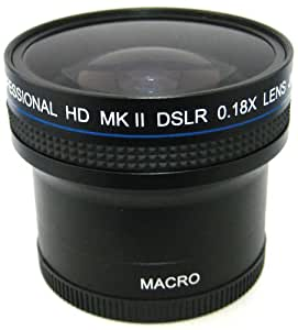 Zeikos 0.18x Super Fisheye Auxiliary Lens w/ 52mm 58mm Adatper for Digital SLR Cameras Lens