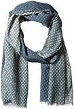 scotch and soda scarf - Scotch & Soda Men's Scarf with All-Over Printed Mix and Match Patterns, Blue, OS