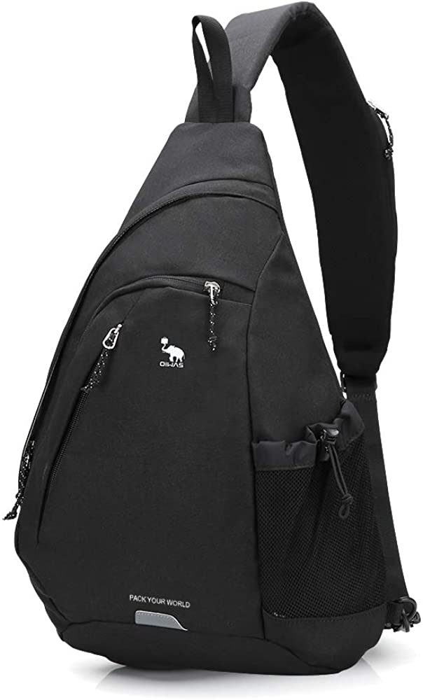 OIWAS One Strap Backpack for Men Single Strap Backpack Sling Bag Crossbody Shoulder Daypack for Boys Women