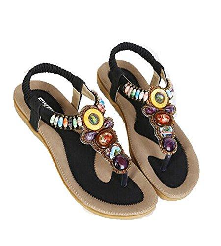 Beach Shoes Gladiator Zapatos Women Flip Black Sandles Flops Bohemia Shoes Ladies Sandals Mujer platform BxAaTT