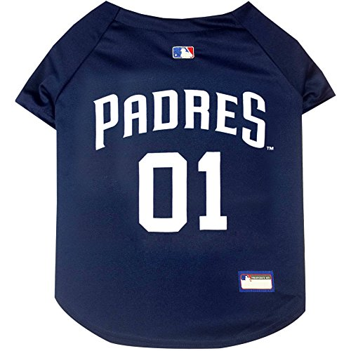 (MLB SAN Diego Padres Dog Jersey, X-Small. - Pro Team Color Baseball Outfit)