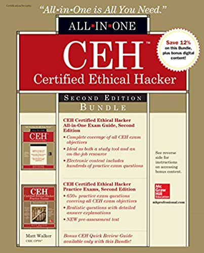 amazon com ceh certified ethical hacker bundle second edition all rh amazon com Certified Ethical Hacker Books Certified Ethical Hacker Certification