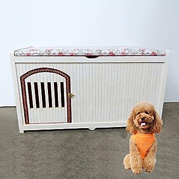 Nclon Madera sólida Casa Casa de Perro de Criadero de Perros Casa de Perro de Jaula