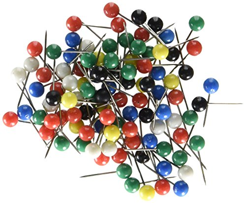 ns, Plastic Head, Steel Point, Assorted Colors, 100-Count ()