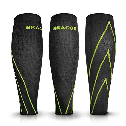 BracooMangas de compresión para espinillas, para hombres, mujeres, ciclismo, correr, baloncesto, entrenamiento de fuerza,...