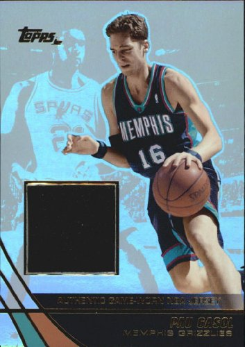 - 2003 Topps Jersey Edition Basketball Card (2003-04) #PG Pau Gasol