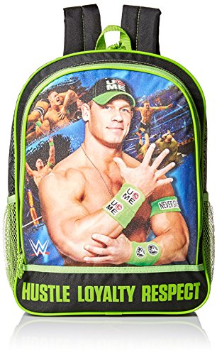 WWE Boys' John Cena Black 16 Inch Backpack, Multi by WWE
