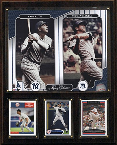 MLB New York Yankees Mantle-Ruth Legacy Collection Plaque, 12 x (New York Yankees Team Pictures)