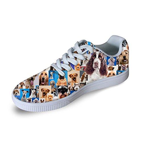 Per Te Disegni Moda 3d Animali Stampa Uomini Scarpe Da Skateboard Donne Sneaker Casual Dog-4