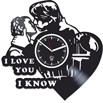 Kovides Star Wars Rebels, I love You, Best Gift for Boyfriend Vinyl Record, Vinyl Wall Clock Home Decor, Wall Clock Modern, Birthday Gift, Comics Marvel DC Movie, Silent Mechanism, Wall Sticker