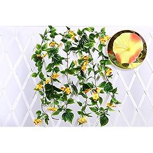 Yatim 2PCS(13FT) Artificial Flowers Ivy Vines Leaf Garland Plants for Hotel Wedding Arch Home Party Garden Craft Art Decor Sunred 2