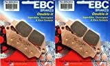 EBC Sintered Double H Front Brake Pads (2 Sets) for Both Calipers 2007 Ducati Sport 1000 Monoposto FA209/2HH