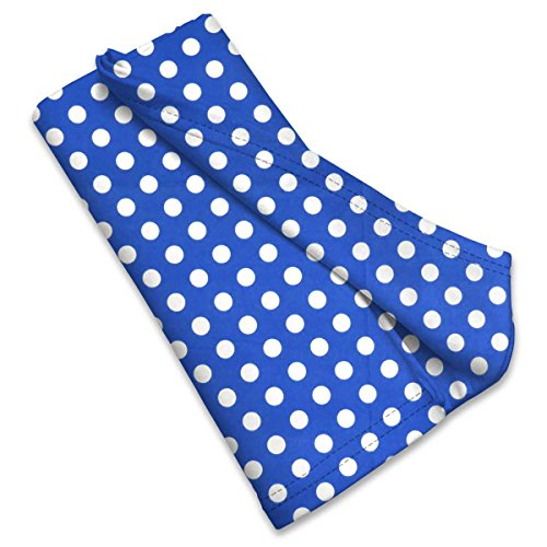 SheetWorld Flannel Receiving Blanket 22 x 36, Polka Dots Royal Blue, Made in USA