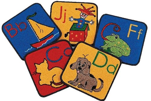 Carpets for Kids 1026 ABC Phonic Squares - Set of (Kids Abc Phonic Squares)