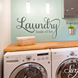 Quote Wall Stickers Decal Laundry Loads Of Fun Removable Wall Decals From Surface Inspired 1003