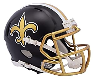 NFL New Orleans Saints Alternate Blaze Speed Mini Helmet