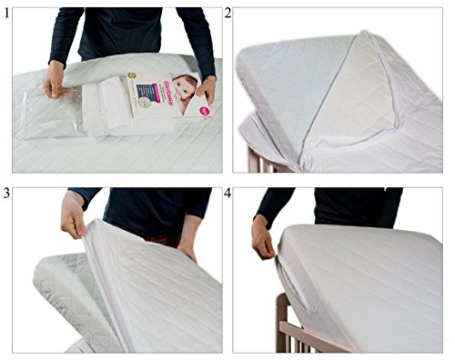COZYCUDDLES Premium Quilted Waterproof Crib & Cover - Bedbugs Fully Standard Baby Crib