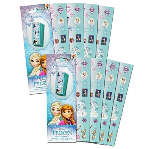 Disney FROZEN Stickers Party Favors - Bundle of 16 Sheets
