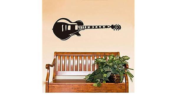 Jixiaosheng Guitarra Eléctrica Pegatinas De Pared Silueta Música Paredes Calcomanías De Vinilo Pegatina Decoración Para El Hogar Moderno Decoración De La ...