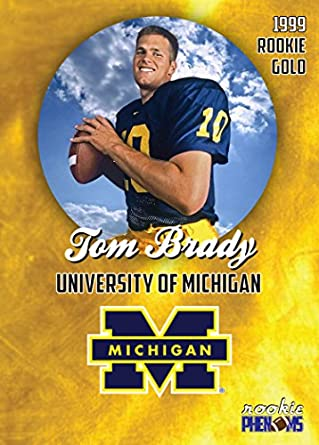 1999 PRE ROOKIE COLLEGE CARD TOM BRADY UNIVERSITY OF MICHIGAN IN A ONE  TOUCH MAGNETIC CASE