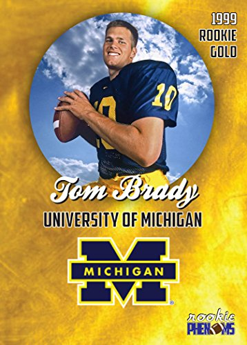 new concept 953dc 19ff9 1999 PRE ROOKIE COLLEGE CARD TOM BRADY UNIVERSITY OF MICHIGAN IN A ONE  TOUCH MAGNETIC CASE