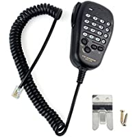 AOER Handheld / Shoulder Mic for 6-Pin Yaesu Mobile Radio FT-90R FT-2600M FT-3000M FT-8000R FT-8100R MH-36 MH-36B6J
