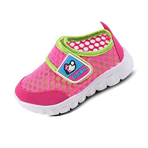 Gloria JR - Zapatos primeros pasos de Piel para niña Rot Rosa(Red Pink)