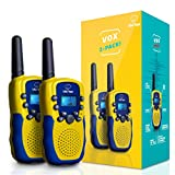 "Toys : USA Toyz Walkie Talkies for Kids - ""Vox Box"" Voice Activated Walkie Talkies for Adults and Kids 3+ Mile Two Way Radio Walkie Talkies Long Range Set"