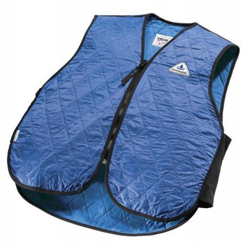 HyperKewl Evaporative Cooling Sport Vest, Blue, (Evaporative Cooling Chart)