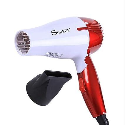 LX&OOSM Secador de pelo compacto plegable del mini del pelo de la secadora de iones negativa