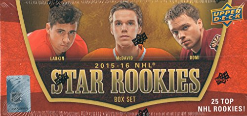 Upper Deck NHL Star Rookies 2015 2016 Limited Edition Factory Sealed 25 Card Set Featuring Connor McDavid, Max Domi, Jach Eichel and Others (Penguins Upper Deck)