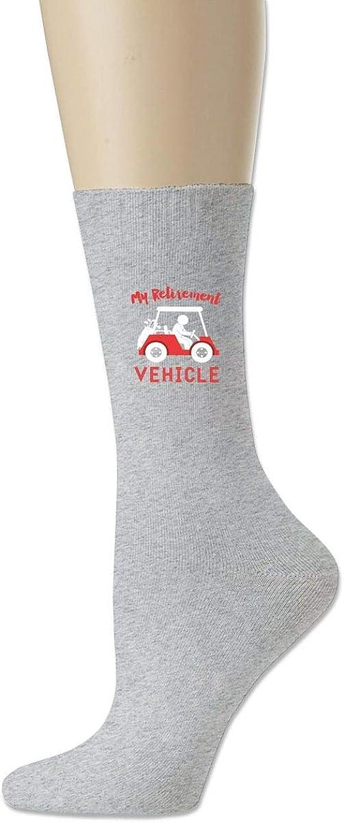 My Retirement Vehicle Crew Sock Cotton Crazy Solid Socks Ladies