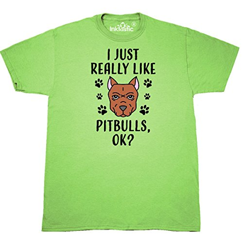 inktastic - I Just Really Like Pitbulls Ok T-Shirt X-Large Key Lime 3110b ()