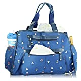 Image of Next Mommy Baby Diaper Bag with Changing Pad, Stroller Clips and Shoulder Strap, Blue