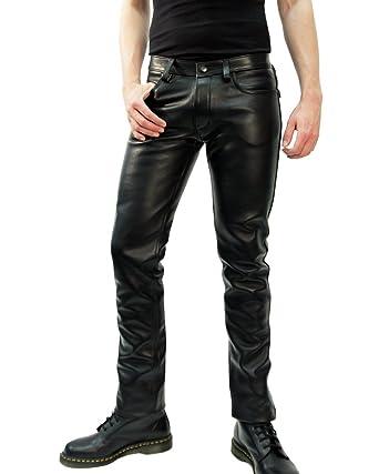 En Pantalon Classique Hipster Noir Cuir Les Pour Jeans Small Rob Fit TXuwZPOki