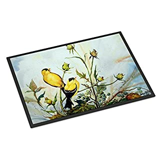 Caroline's Treasures PJC1112JMAT Joyful Morning Birds Indoor or Outdoor Mat 24x36, 24H X 36W, Multicolor