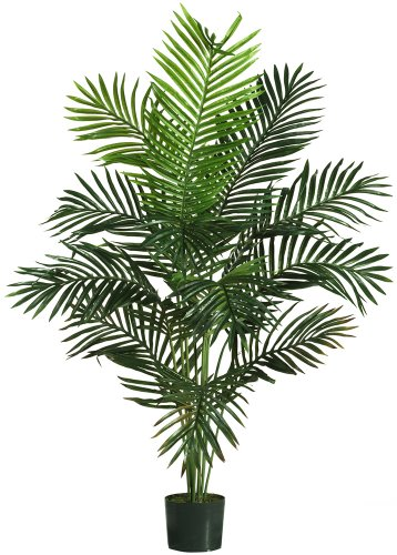 Nearly Natural 5259 Paradise Artificial Palm Trees , 5-Feet, Green (Fake Small Tree Palm)
