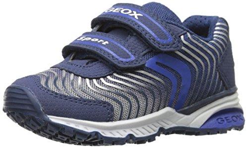 Geox Junior Bernie 4 Sneaker (Toddler/Little Kid/Big Kid), Navy/Royal, 32 EU (1 M US Little Kid)